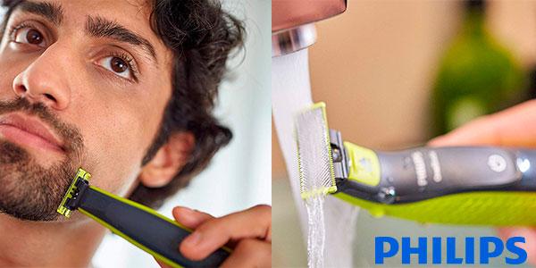 Pack Recortador de barba Philips OneBlade recargable + estuche barato