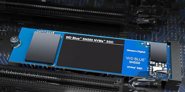 Disco SSD WD Blue SN550 de 500 GB NVMe M.2 barato