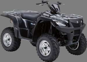 Review 2009 Suzuki King Quad 500 with Power Steering: Off