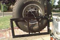 Toyota FJ40 Tire Carrier amp Cooler Rack: Off-Road.com