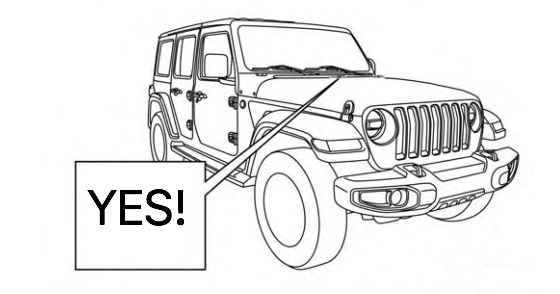 jeep wrangler side view layout