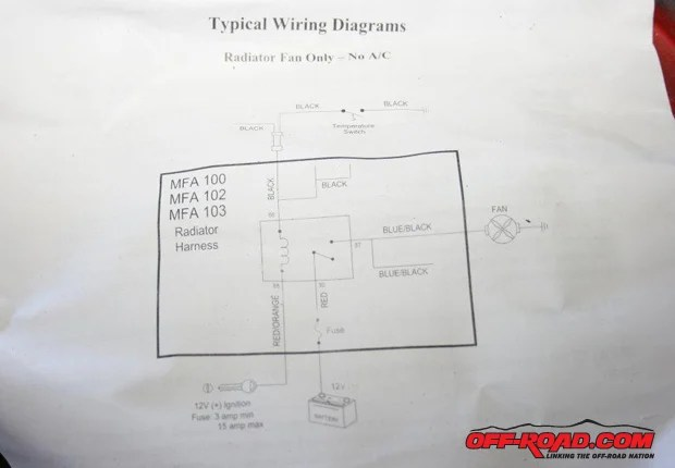 Electric Cooling Fan Wiring Diagram Likewise Electric Fan Relay Wiring