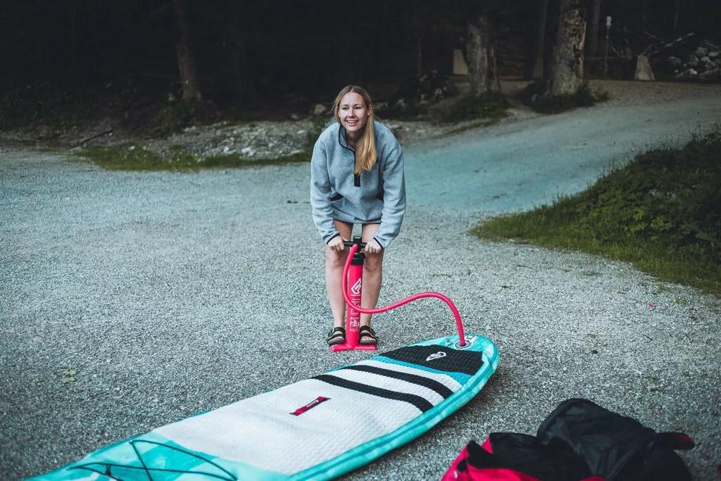 stand up paddling tipps softboard fanatic eibsee bayern