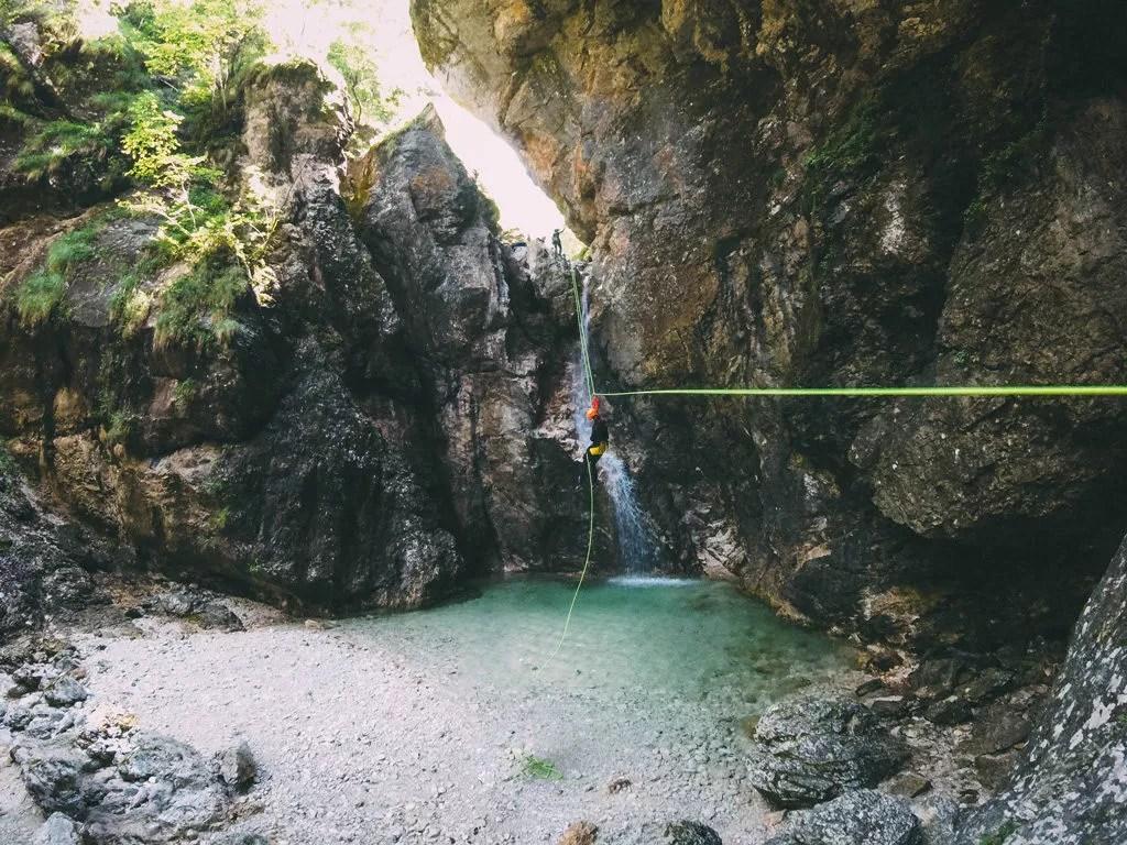 Canyoning-Tour im Triglav-Nationalpark.
