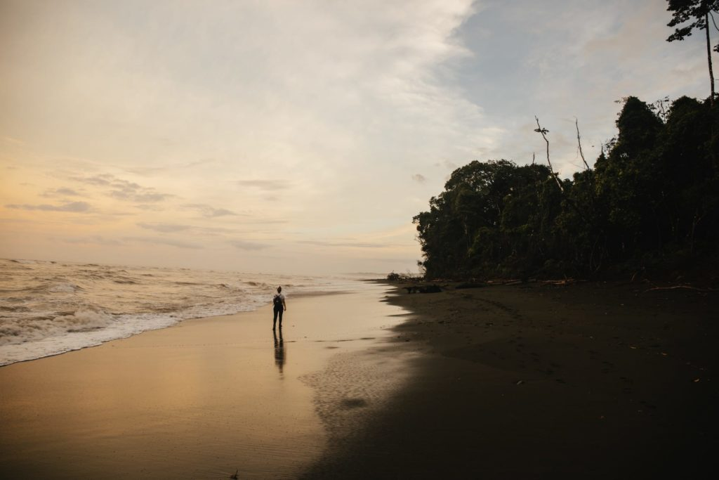 Sonnenuntergang in Carcovado Nationalpark