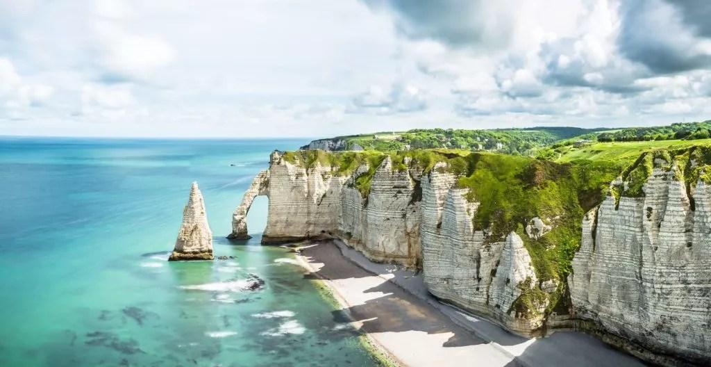 Panorama von Etretat in der Normandie