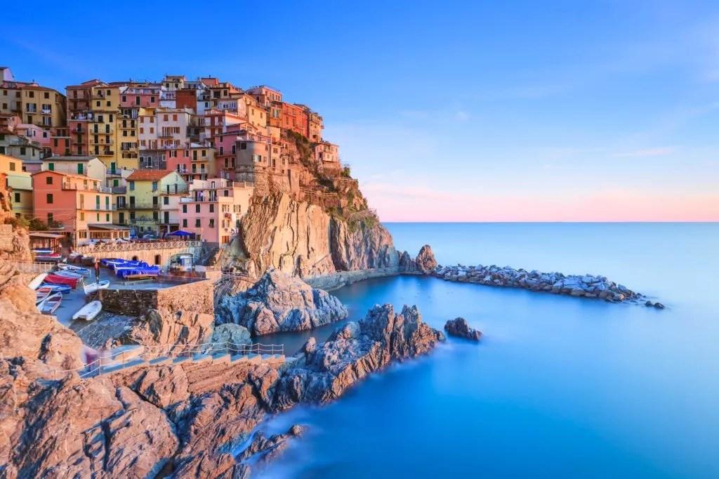cinque terre am mittelmeer in italien