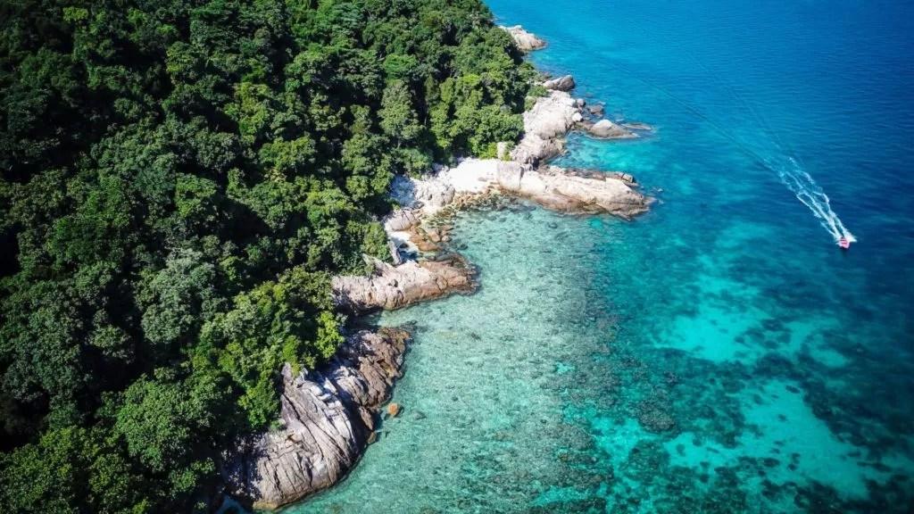 Perhentian Inseln in Malaysia von oben
