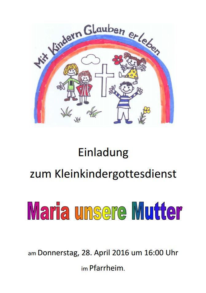 Kleinkindergottesdienst