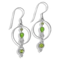 Gaspeite and Peridot Dangle Earrings - Offerings Jewelry ...