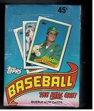 Baseball 1989 TOPPS UNOPENED WAX BOX BASEBALL CARDS 34 PACKS  unopened (TROY 698-3242) $20