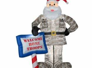 Welcome Home Troops 7′ Santa brand new blow up (Troy 273-5485) $40