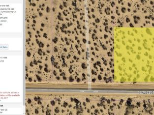 Los Angeles County – 2 Acres on Ave O with amazing views in the Antelope Valley!