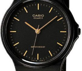 Casio Men's Black Resin Watch, Analog, Water Resistant, MQ24-1E