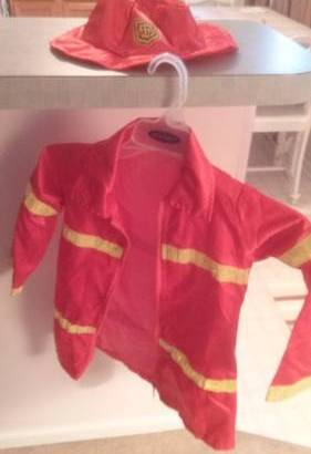 Fire Chief Jacket, Hat and badge – costume or play (Ballston Spa) $5