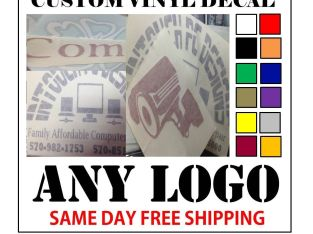 CUSTOM VINYL DECALS / STICKER – ANY LOGO OR IMAGE – FAST FREE SHIPPING