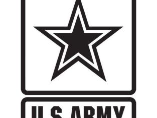 US ARMY EMBLEM LOGO MILITARY REAL MAN STAR GUN VINYL DECAL STICKER (USA-1)