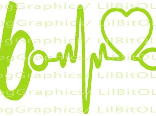 2-Scrub Life Vinyl Decal  6″ x1.5″ Heartbeat Nurse Nursing Medical Sticker