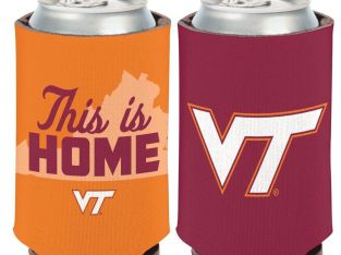 VIRGINIA TECH HOKIES THIS IS HOME KADDY KOOZIE CAN HOLDER NEW WINCRAFT