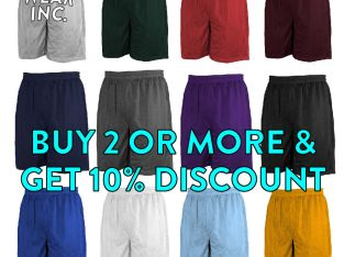 MEN'S PLAIN MESH SHORTS CASUAL BASKETBALL SHORTS 2 POCKET GYM FITNESS WORKOUT