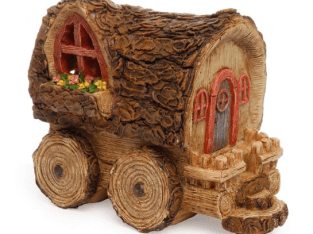 Fairy Garden Wagon House Cottage  New Accessories / Supplies Decor  B016