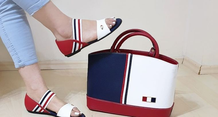 women combine shoes +bags