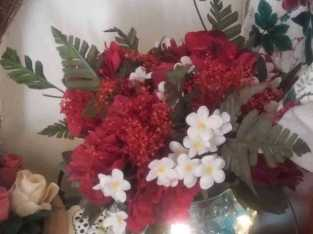 Homemade floral arrangements