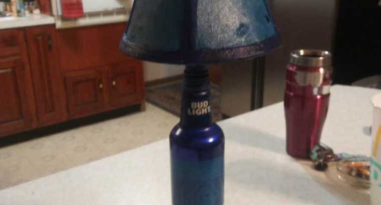 Homemade bud light lamp