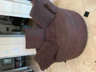 Brown Circular Chair