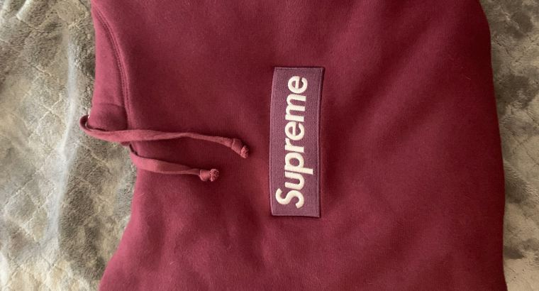 Supreme Bergundy Box Logo