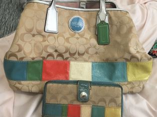 Coach Bag with Wallet Set