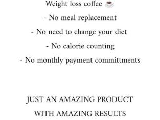 weight loss coffee/hot chocolate