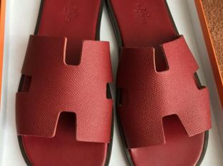Hermes Leather Slippers