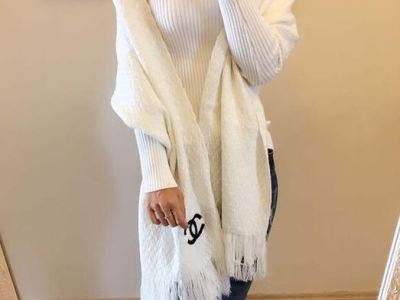 ladies Chanel Scarf. used but in perfect condition with tags