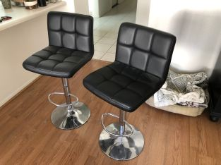 Pair of Height-Adjustable Barstools