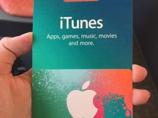 iTunes gift card for sell