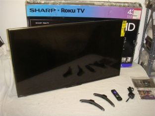 SHARP LC-43LBU591U ROKU 43IN CLASS LED 2160P 4K SMART UHDTV