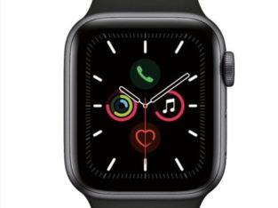 Apple Watch Series 5 (GPS) 44mm With Black Sport Band – Space Gray Aluminum