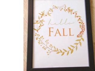 Hello Fall Framed Art