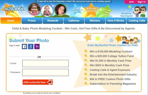 Baby Photo Modeling Contest