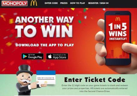 McDonalds Monopoly 2017