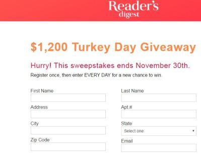 Free Turkey Giveaway 2017
