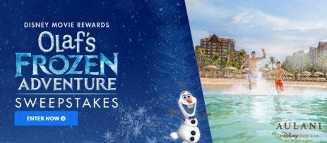 Frozen Adventure Sweepstakes 2017