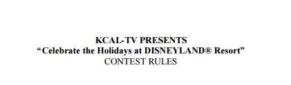 KCAL9 Disneyland Contest 2017