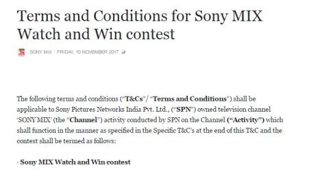 Sony Mix Missed Call Contest