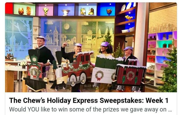 The Chew Holiday Express Sweepstakes