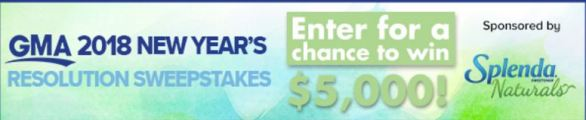 New Year's Resolution Sweepstakes
