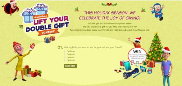 Nickelodeon Lift Your Double Gift Contest