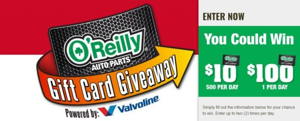 OReilly Auto Parts Gift Card Giveaway