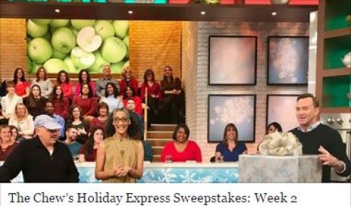 The Chew's Holiday Express Sweepstakes